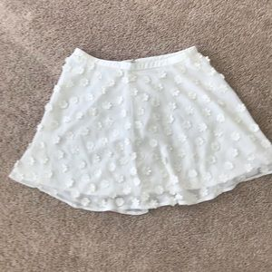 Forever 21 cream flower skirts